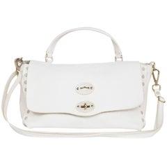Zanellato White Leather Small Postina Handle Bag