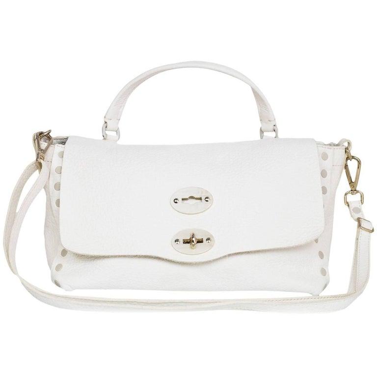Zanellato White Leather Small Postina Handle Bag 1