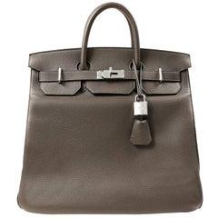 Hermès Graphite Togo 40 cm HAC with Palladium