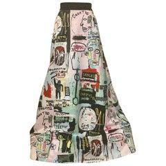 Alice and Olivia Basquiat Graffiti Art Limited Edition Print Maxi Ball Skirt