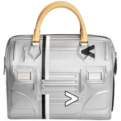 Louis Vuitton Limited Edition Space Silver Leather Speedy 25 - 2017