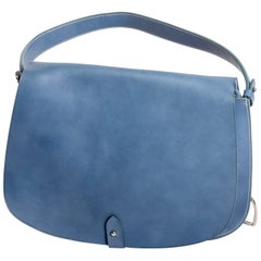 Ralph Lauren Collection Medium Saddle Bag in Sky Blue