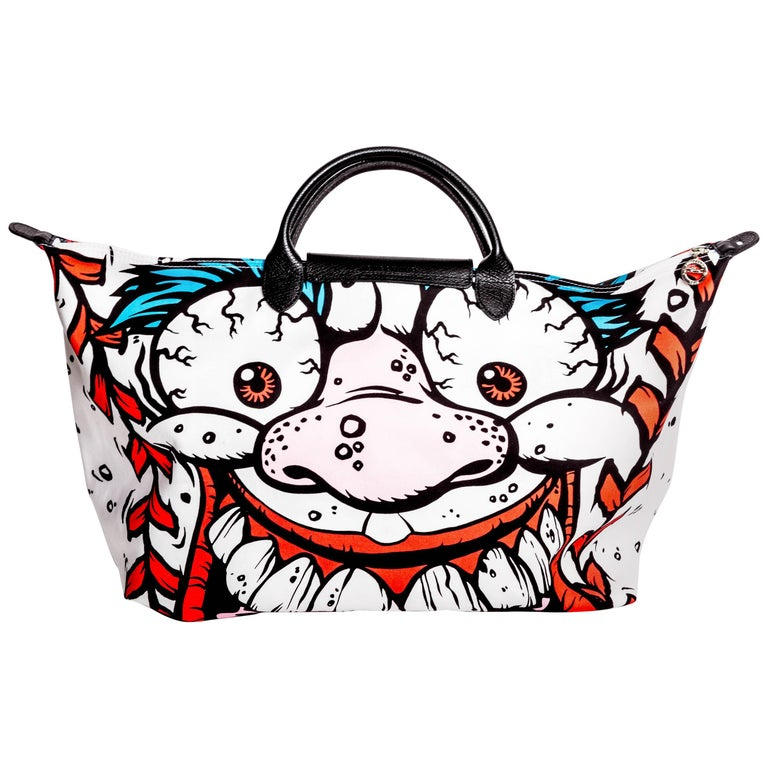 "Jeremy Scott x Longchamp Madballs ""Screaming Meemie""Pliage Bag"