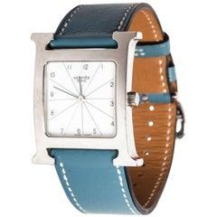Hermes Heure H Watch in Stainless Steel - Includes Original Hermes Box