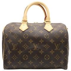 Louis Vuitton Speedy 25 Bandouliere  Brown Monogram Canvas Top Handle Bag