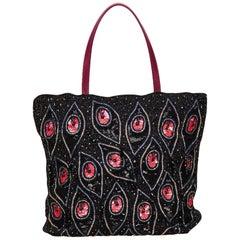 Valentino Black Sequin Embellished Tote Bag