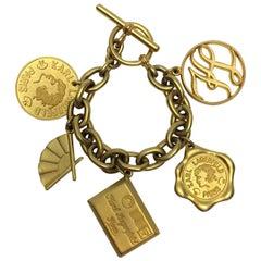 Karl Lagerfeld Gold Plated Charm Bracelet