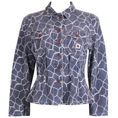 Kenzo Denim Jacket in Animal Print