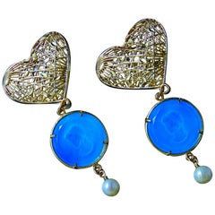 Murano glass and bronze earrings by Patrizia Daliana