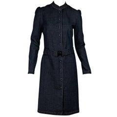 Blue Burberry London Denim Belted Jacket