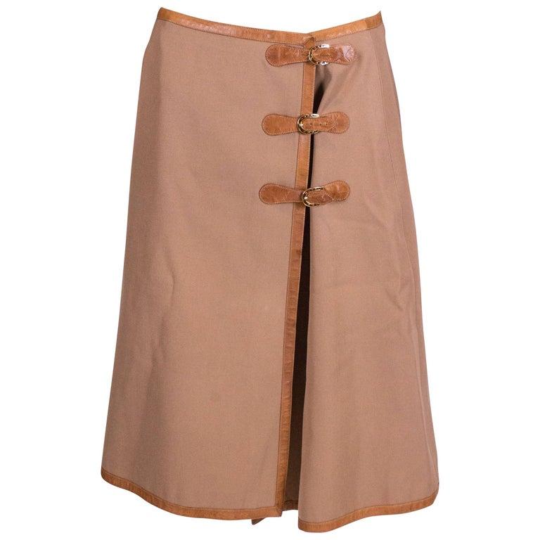 Vintage Gucci wrap over skirt