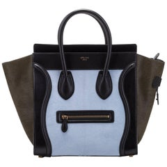 Celine Tricolor Pony Hair Mini Luggage Bag