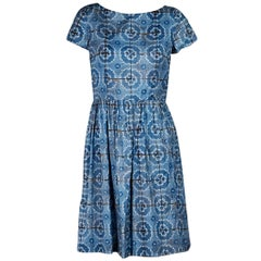 Blue Prada Floral-Printed Dress