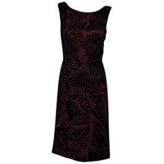 Black & Red Escada Printed A-Line Dress