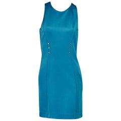 Blue Versace Sheath Dress