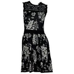 Black & White Red Valentino Floral Dress