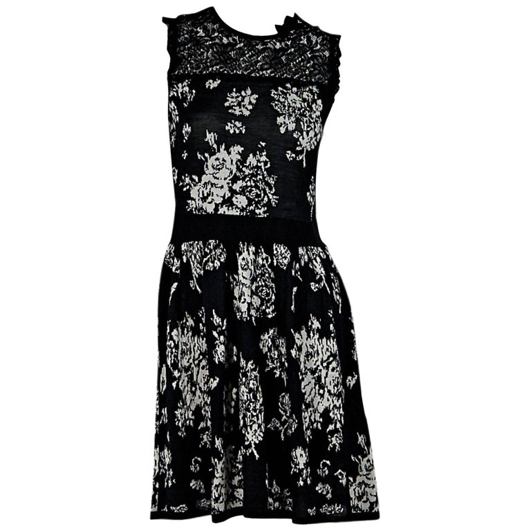 Black & White Red Valentino Floral Dress