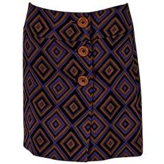 Multicolor Prada Printed Mini Skirt