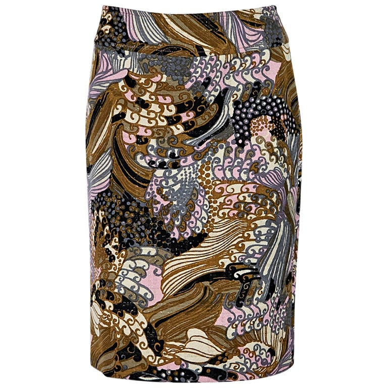Multicolor Dolce & Gabbana Printed Pencil Skirt