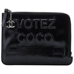 New in Box Chanel Votez Coco Black Clutch Bag