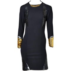 Geoffrey Beene Fitted Dress With Sequined Details