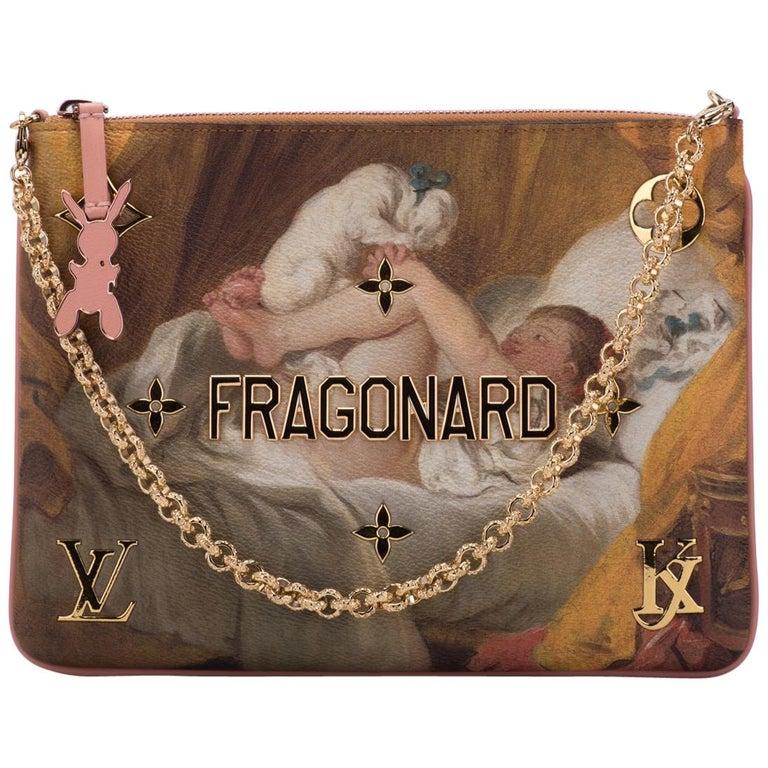 "Louis Vuitton Lim. Edition ""Fragonard"" Masters Collection Jeff Koons Pouchette 1"
