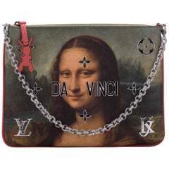 New in Box Louis Vuitton by Koons Mona Lisa Clutch Bag