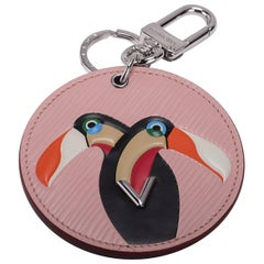 Vuitton Limited Edition Pink Toucan Bag Charm
