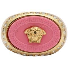 Gianni Versace Iconic Pink Medusa Ring