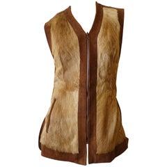 Funky 1970s Reversible Goat Fur Vest