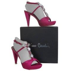 pierre cardin fuchsia platform heels