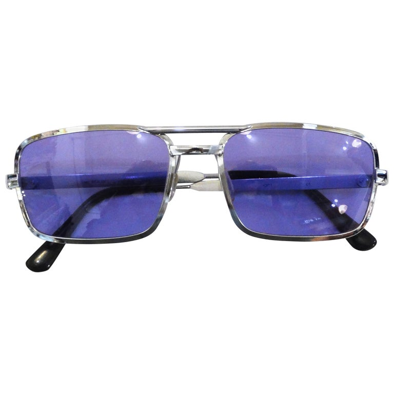1990s Violet Colored Sunglasses  For Sale