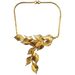 Christian Dior Mid Century leaves necklace