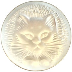 Lalique Cat brooch in white