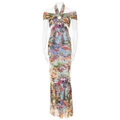 Jean Paul Gaultier Tropical Sheer Flamingo Dress