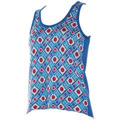 Balenciaga 1970s Style geometric Knit Top