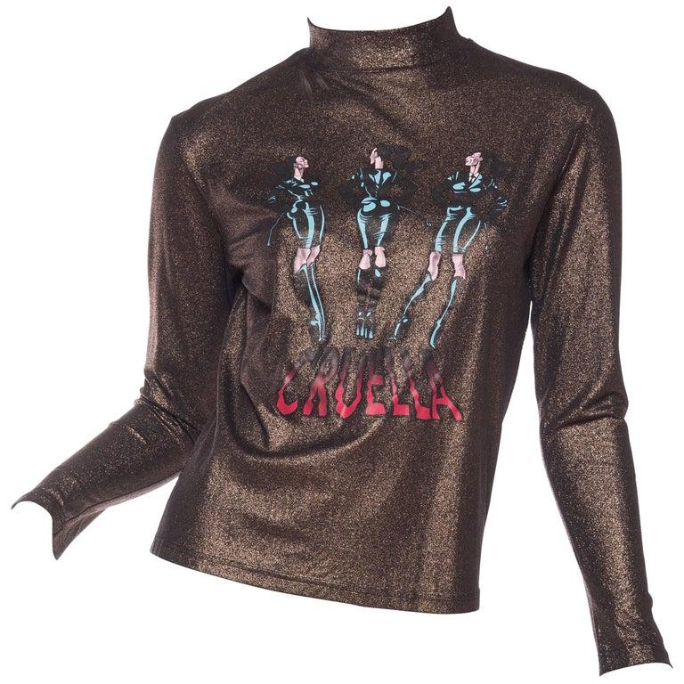 """1990s Jean Paul Gaultier Gold """"Cruella"""" Shirt"""