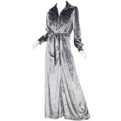 Incredibly Chic 1970s Velvet Jumpsuit