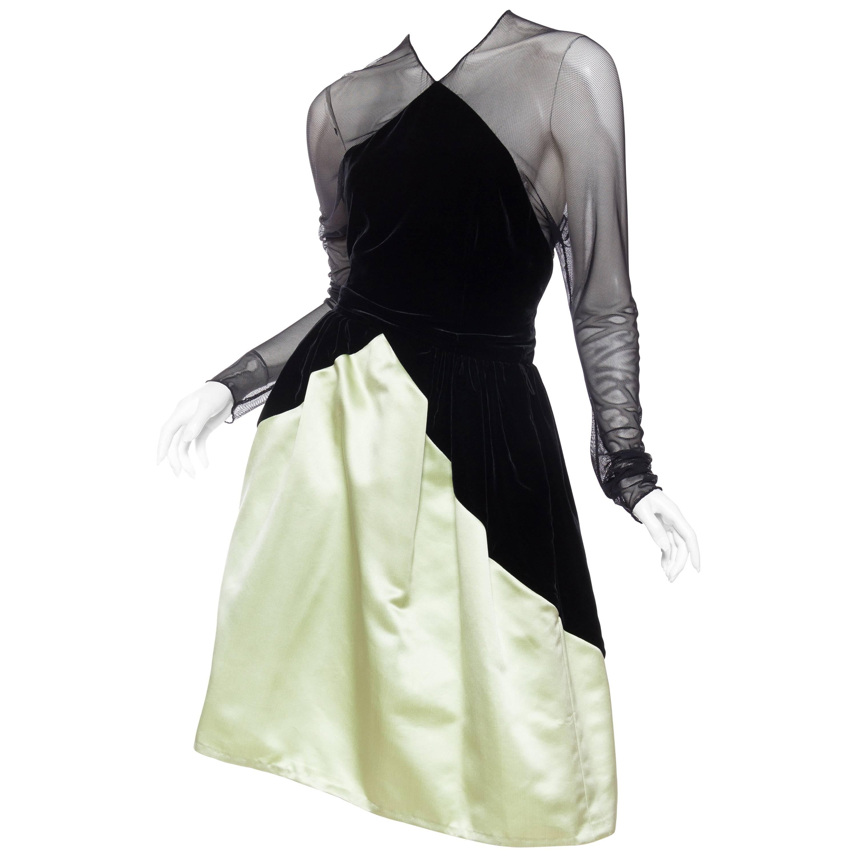 93364194b6 80s Bill Blass Silk Strapless Bubble Gown w Scarf For Sale at 1stdibs
