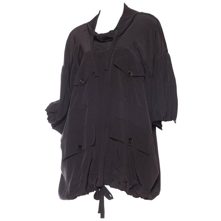 Balenciaga oversized Silk Bomber Blouse 1