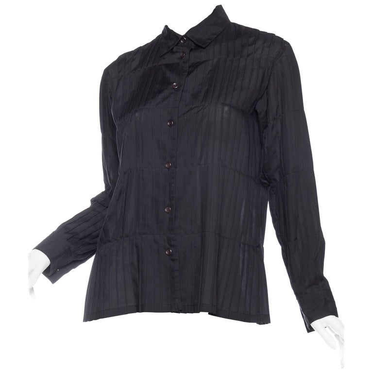 Issey Miyake Pleated Blouse For Sale