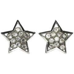 Crystal Star Vintage Earrings, 1960s