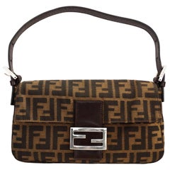 Iconic Fendi Monogram Baguette Shoulder Bag