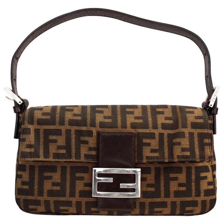 f44b4751579 Iconic Fendi Monogram Baguette Shoulder Bag at 1stdibs
