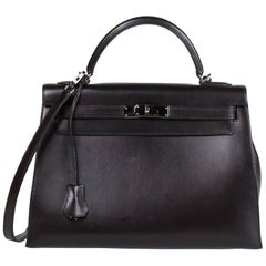 Kelly Hermés Black Box Bag Excellent Conditions