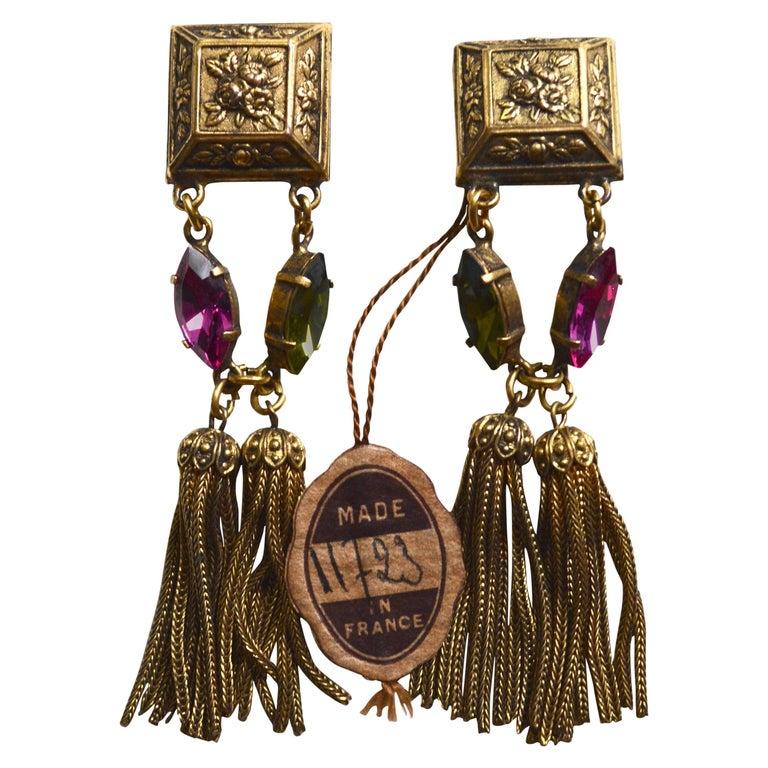 French 60s Tassel Earrings 1