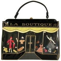 """La Boutique"" Soure Handbag with Clothing Shop Storefront Display Windows Design"