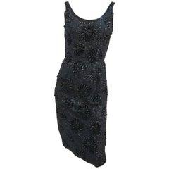 1960s Sequin Cocktail Sheath Dress
