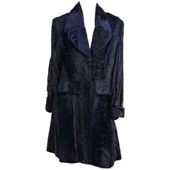 1970s Jean Louis Faux Fur Large Lapel Coat