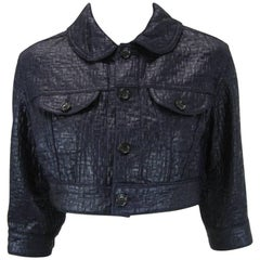 Comme des Garcons Cropped Navy Jacket
